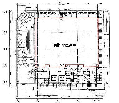 オリックス池袋ビル 9階(店舗可)の間取り画像