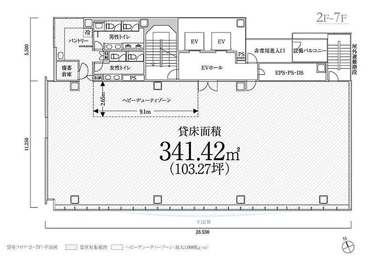 PMO西新橋 4階の間取り画像