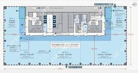日本生命浜松町クレアタワー 3階(飲食店舗限定)の間取り画像