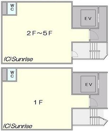 ル・グラシエルBLDG.22 1階~5階(店舗限定)の間取り画像