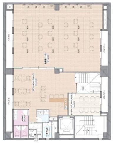 RENOBLE NINGYOCHO(旧:NCC富沢町ビル) 5階B+6階の間取り画像