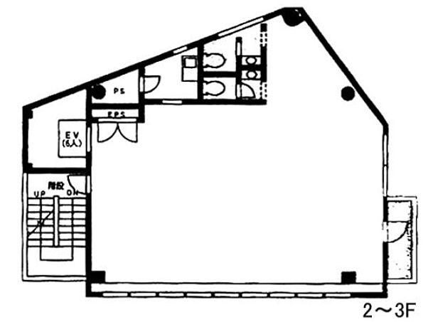 いちご溜池ビル(旧:COI赤坂溜池ビル) 2階の間取り画像