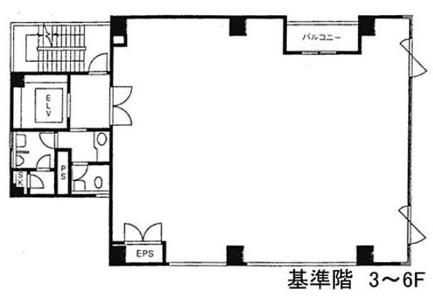 赤坂伊藤ビル 6階の間取り画像