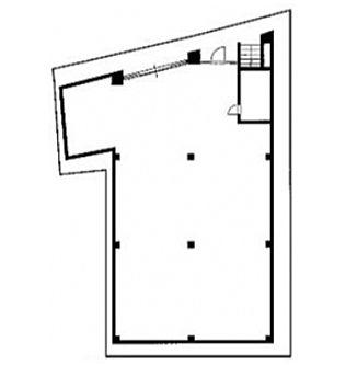 神宮前COURT C 地下1階(店舗限定)の間取り画像