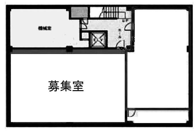 近文ビル 地下1階A 平面図