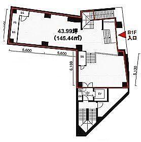MK麹町ビル 地下1階(店舗限定)の間取り画像