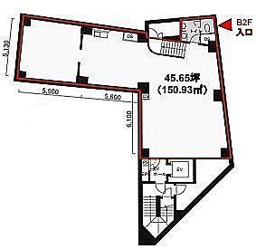 MK麹町ビル 地下2階(店舗限定)の間取り画像