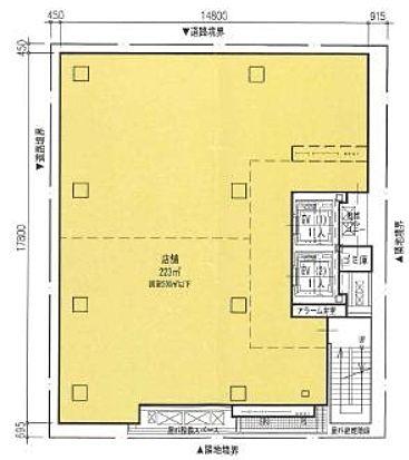 阪神阪急銀座ビル(旧:阪急阪神銀座3丁目プロジェクト) 11階(店舗限定)の間取り画像