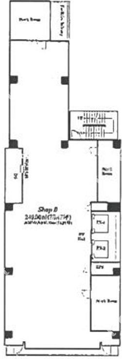 ブランエスパ銀座 10階(店舗限定)の間取り画像