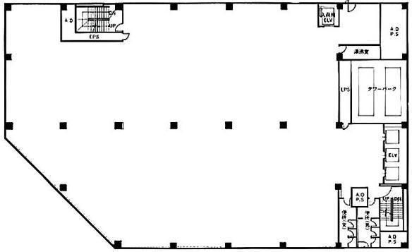 築地KYビル 2階C室増床プラン(店舗限定)の間取り画像