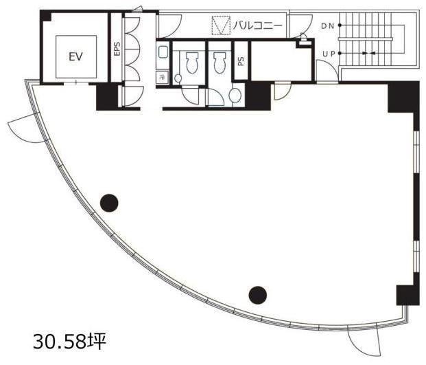 渋谷デュープレックスB's 4階の間取り画像