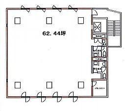 アイアンクオータビル 2階の間取り画像
