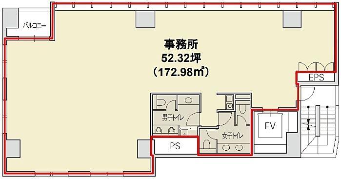 赤坂二丁目ビル 4階の間取り画像