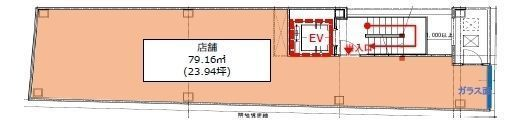 (仮称)フィル・パーク白山ヒルズ 2階(店舗限定)の間取り画像