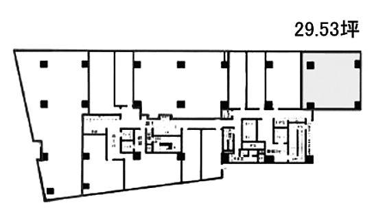 宮益坂ビルディング 2階Aの間取り画像