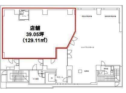Daiwa日本橋本石町ビル 1階(店舗限定)の間取り画像