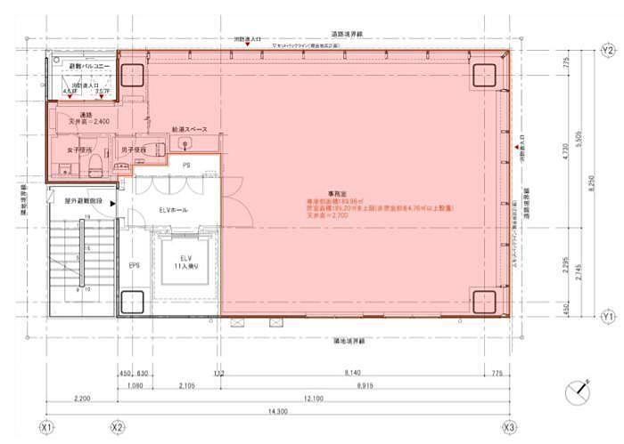 河北新報ビル 4階 平面図