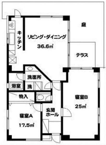 ガーデニア六本木 2階201(SOHO)の間取り画像