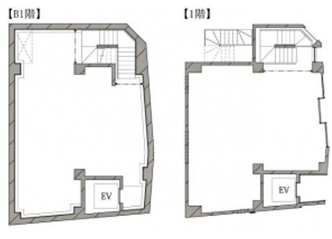 HIBICA神宮前 地下1階~1階 平面図