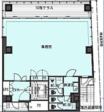 (仮称)南青山5丁目ビル新築計画(南青山5丁目プロジェクト) 2階(店舗可)の間取り画像