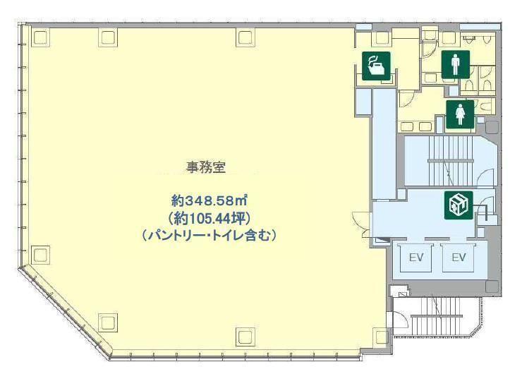 BIZCORE渋谷 3階の間取り画像