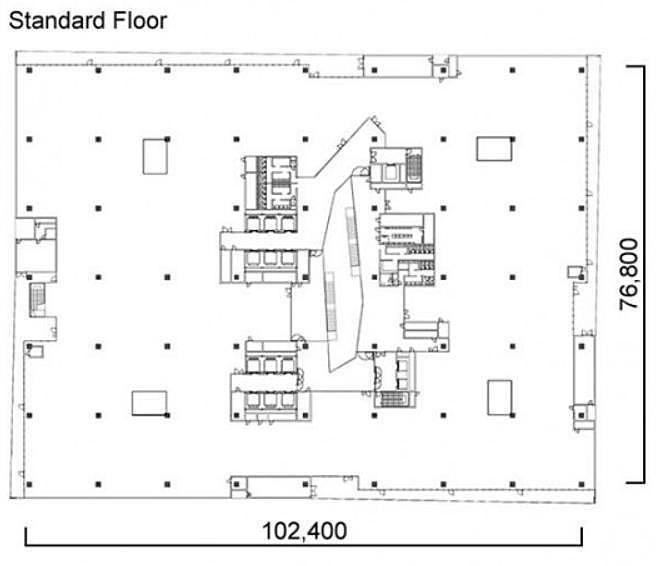 メブクス豊洲(旧:(仮称)豊洲六丁目4-2、3街区プロジェクト オフィス棟(4-2街区)) 3階の間取り画像