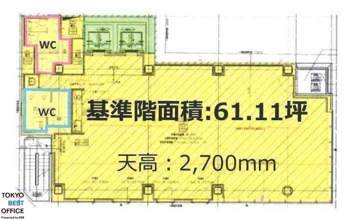 神田司町PREX 7階の間取り画像