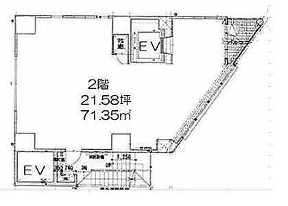 LASPACIO浅草レジデンス 2階(店舗限定)の間取り画像