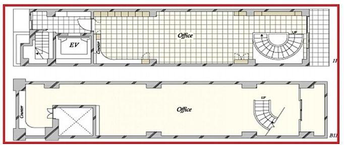 アーツ東京 地下1階~1階(店舗限定)の間取り画像