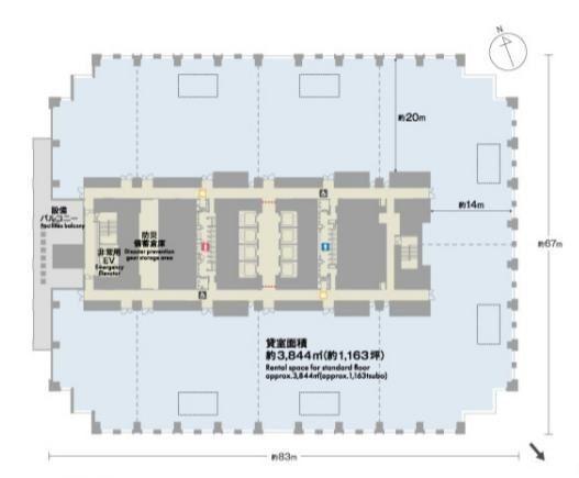 神谷町トラストタワー 25階の間取り画像