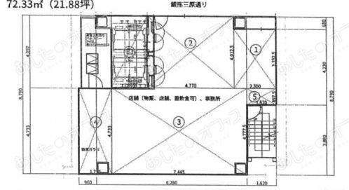 サクラマークス銀座612 10階(店舗限定)の間取り画像