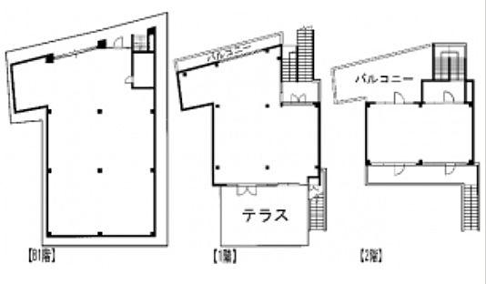 神宮前COURT C 地下1階~2階(一棟貸・店舗限定)の間取り画像