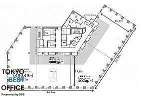 MOMENTO SHIODOME(モメント汐留) 11階の間取り画像
