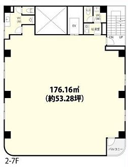 フォーラム浅草田原町 7階(店舗可)の間取り画像