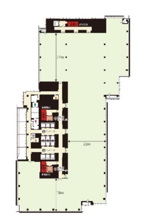 ミッドタウン・イースト 2階201の間取り画像