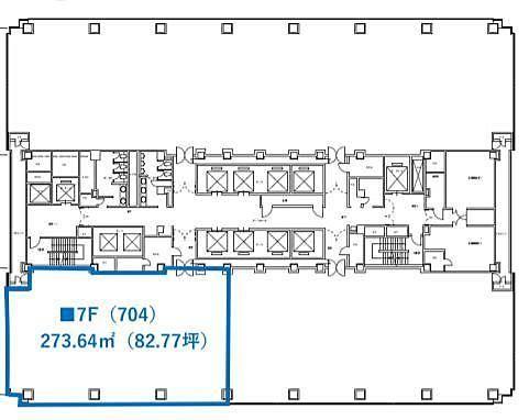 紀尾井町ビル 7階704 平面図