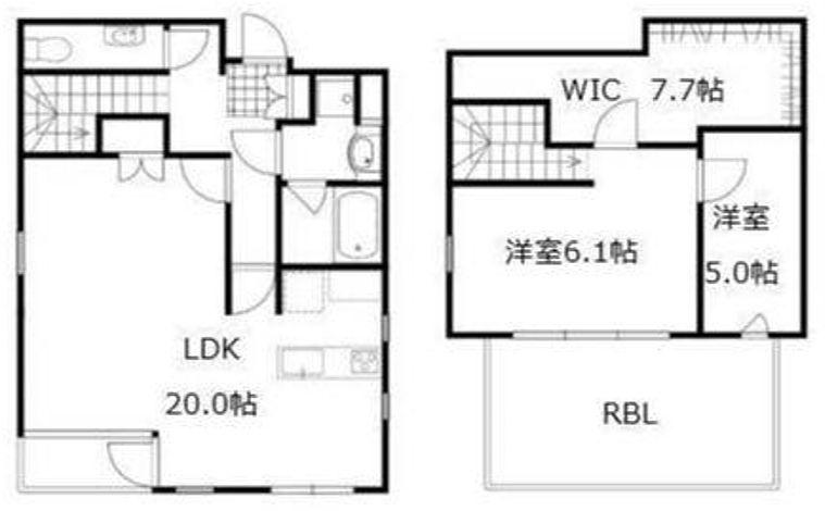 damo build. 4階~5階メゾネット(SOHO)の間取り画像