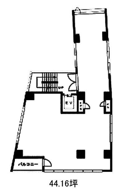 JECTONE神宮前ビル 2階 平面図