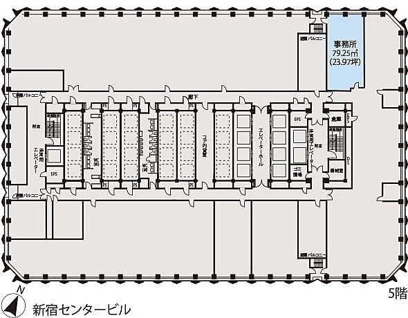 新宿センタービル 5階E-1の間取り画像
