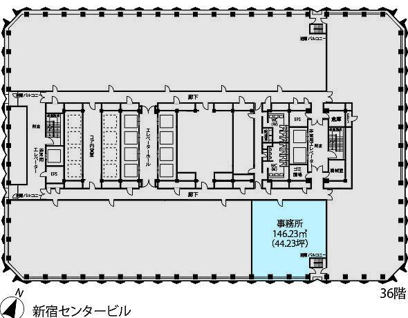 新宿センタービル 36S-2-2の間取り画像
