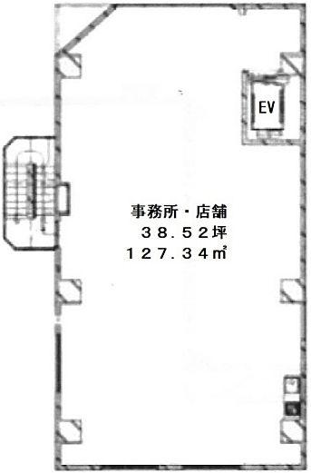 東陽ビル 2階(店舗可)の間取り画像