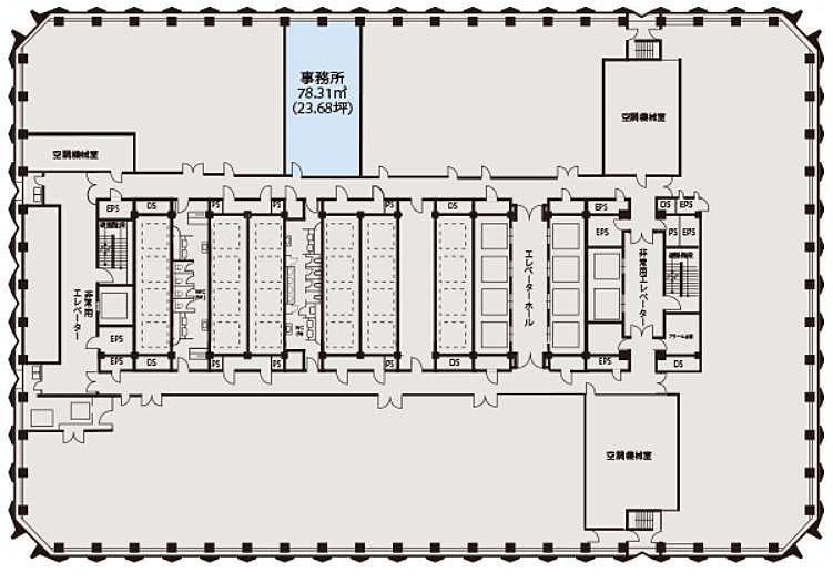 新宿センタービル 5階の間取り画像