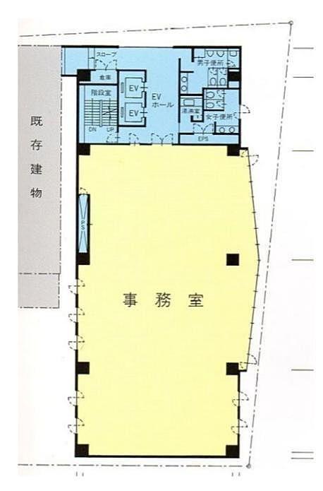 亀井ビル 2階の間取り画像
