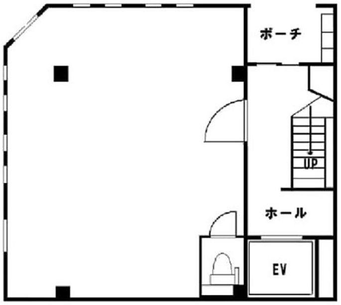 プリモプラートビル 1階(店舗可)の間取り画像