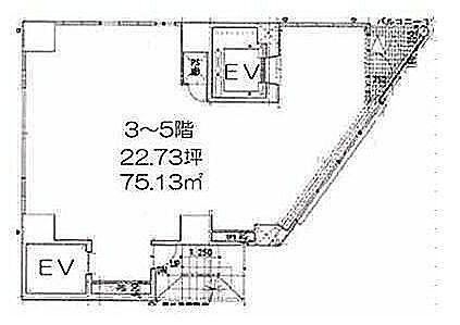 LASPACIO浅草レジデンス 4階(店舗限定)の間取り画像