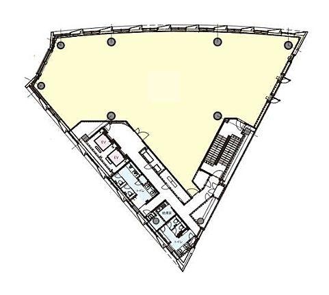明産霞が関ビルディング 2階(店舗可)の間取り画像