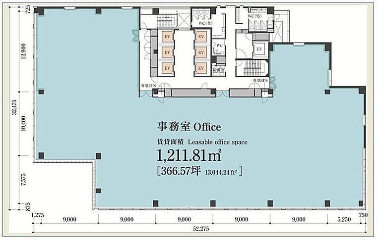 東急番町ビル 9階の間取り画像