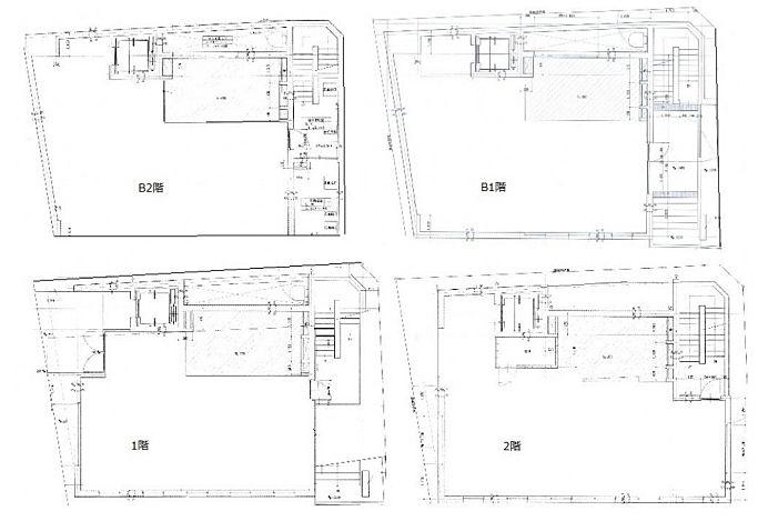 Zet MINAMIAOYAMA 地下2階~2階(一棟貸・店舗限定)の間取り画像