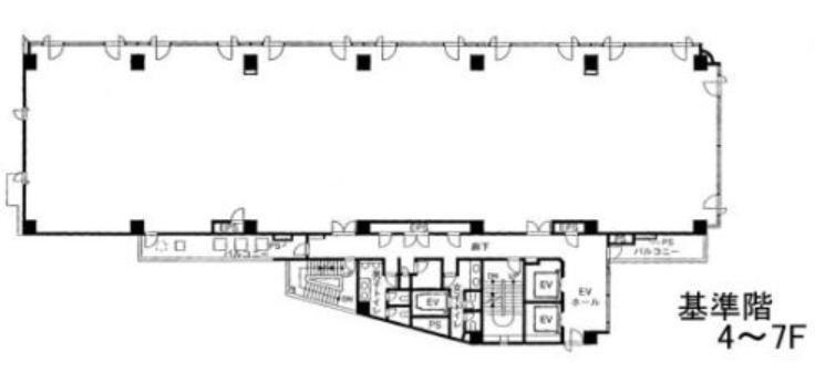 Daiwa笹塚ビル(旧称:笹塚サウスビル) 7階の間取り画像