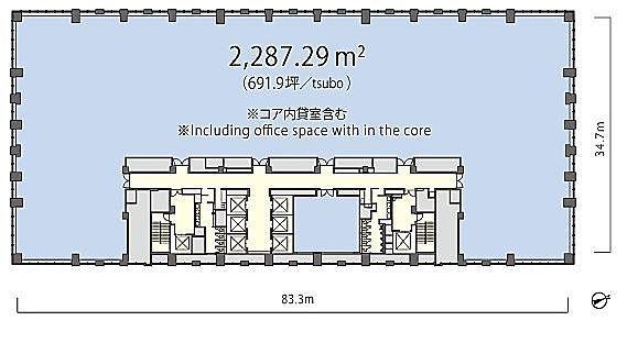 丸の内トラストタワー本館 3階の間取り画像